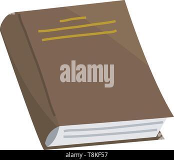 Prenota per amante della letteratura. Enciclopedie per la lettura. Pagine invertite. Oggetto in stile contemporaneo. Illustrazione Vettoriale per poster. Immagini Stock