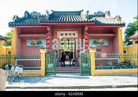Hainan Assembly Hall, Hoi Quan Hai Nam, antica città di Hoi An, Vietnam Immagini Stock
