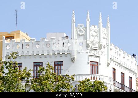 Architettura, facciate storiche, Valencia, Spagna Immagini Stock