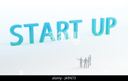 Start up company - 3D concetto illustrazione Immagini Stock