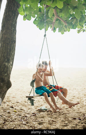 Ragazzi su swing Immagini Stock