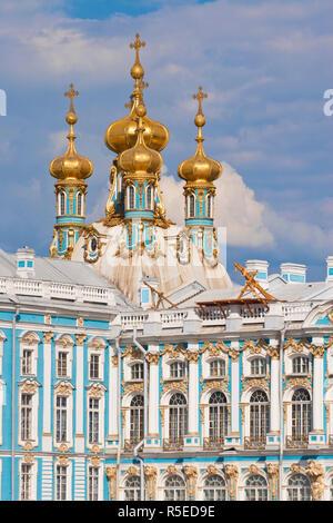 Russia, San Pietroburgo, Tsarskoe Selo, il Palazzo di Caterina (Yekaterinsky Dvorets) Immagini Stock