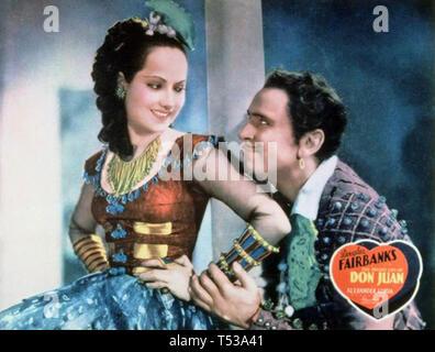 La VITA PRIVATA DI DON JUAN 1934 London Film Productions film con Merle Oberon e Douglas Fairbanks Immagini Stock