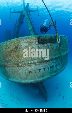 Un anniversario del naufragio della nave USS kittiwake come un reef artificiale. Immagini Stock