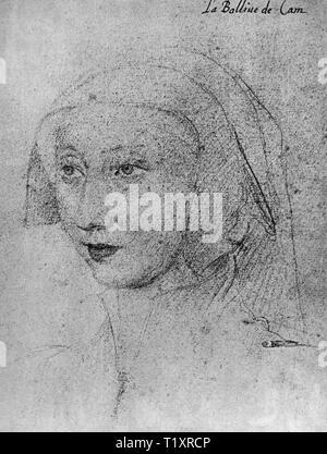 Belle arti, Jean Clouet (1480 - 1541), disegno, 'La Balline de Cam', 1523, Additional-Rights-Clearance-Info-Not-Available Immagini Stock
