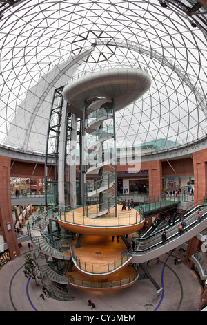 La cupola di Victoria Square a Belfast, Irlanda del Nord. Immagini Stock
