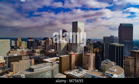 Centro di Denver, Colorado nel 2017 Immagini Stock