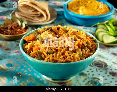 Indiano Vegetariano CURRY BIRYANI Immagini Stock