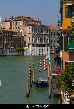Grand canal, della Regione del Veneto, Venezia, Italia Immagini Stock