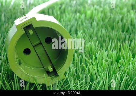 Connettore verde in erba Immagini Stock