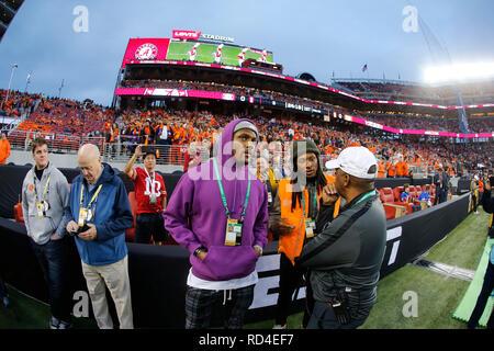 07 gennaio 2019 Deshaun Watson e DeAndre Hopkins di Houston Texans di presenze durante il campionato nazionale tra i Clemson Tigers e Alabama Crimson Tide a Levi's Stadium di Santa Clara, California. Charles Baus/CSM Immagini Stock