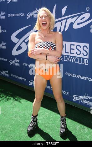 Aprile 20, 2019 - Las Vegas, Nevada, Stati Uniti - Film per adulti attrice CROCIERA CARTER assiste la Sapphire Pool & Day Club ospita weekend apertura celebrazione dotate di Chanel West Coast. (Credito Immagine: © Mjt/AdMedia via ZUMA filo) Immagini Stock