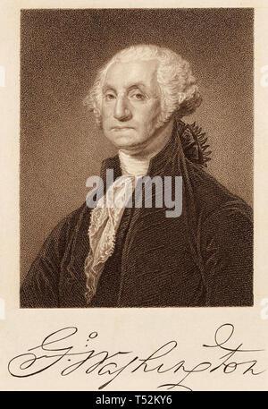 GEORGE WASHINGTON (1732-1799), primo Presidente degli Stati Uniti Immagini Stock