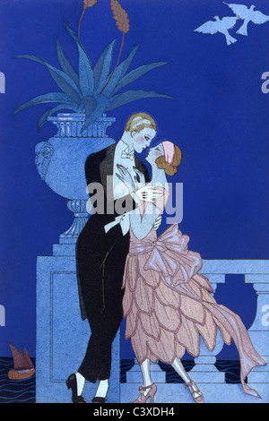 Qui!, da Falbalas & Fanfreluches, da Geroge Barbier. Parigi, Francia, 1925 Immagini Stock