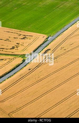 Vista aerea della strada vuota Immagini Stock