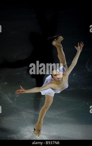 Yukari Nakano del Giappone che ha terminato quarto nella danza su ghiaccio al Cup della Russia la quinta tappa del Immagini Stock