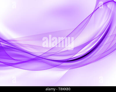 Sfondo astratto di un flusso di linee viola Immagini Stock