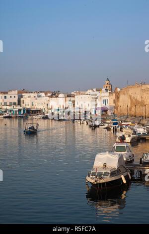 La Tunisia, nord della Tunisia, Bizerta, Porto Vecchio, Kasbah Fort Immagini Stock