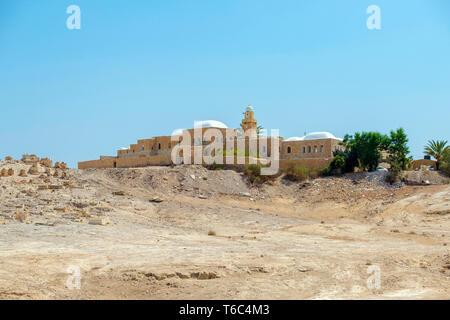 Palestina, West Bank, Gerico. Maqam (santuario) di an-Nabi Musa, che si ritiene essere la tomba del profeta Mosè nella tradizione musulmana. Immagini Stock