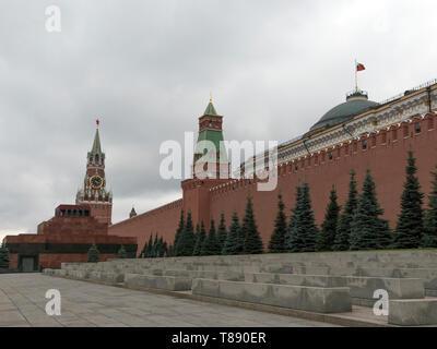 Il Cremlino di Mosca cupola del Palazzo del Senato bandiera russa tower Immagini Stock