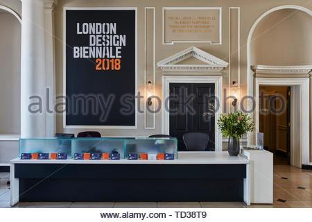 Banco informazioni. London Design Biennale 2018, Londra, Regno Unito. Architetto: Vari , 2019. Immagini Stock