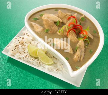 CURRY verde tailandese pasto Immagini Stock