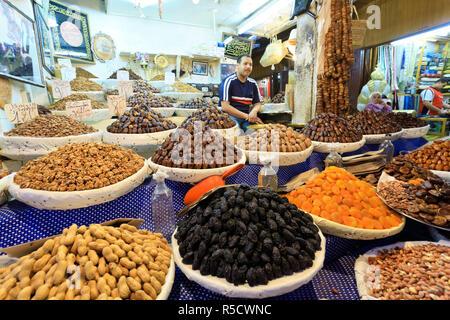 Il Marocco, Fes, Medina (città vecchia), Souk (mercati) Immagini Stock