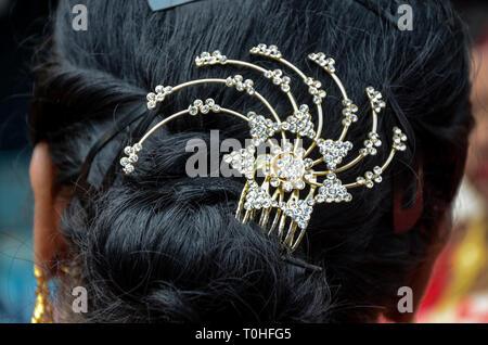 Diamante gioielli a forcina, Calcutta, West Bengal, India, Asia Immagini Stock