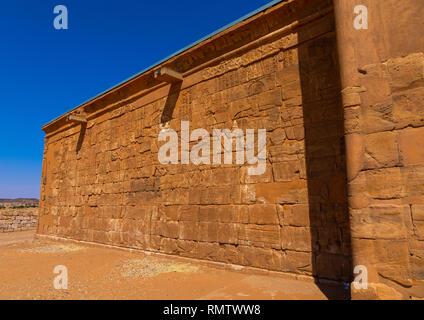 Musawwarat es-sufra meroitic lion tempio, la Nubia, Musawwarat es-Sufra, Sudan Immagini Stock