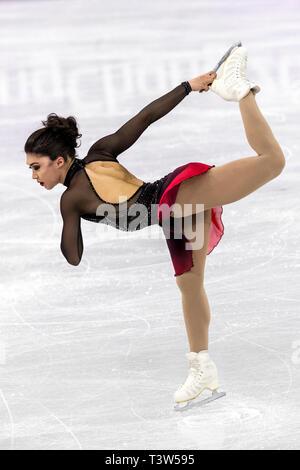 Gabrielle Daleman (CAN) competere nel pattinaggio di figura - Ladies' breve presso i Giochi Olimpici Invernali PyeongChang 2018 Immagini Stock