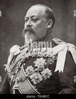 Re del Regno Unito e Domini britannici, Edward VII Immagini Stock
