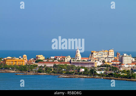 La Colombia, Bolivar, Cartagena de Indias, antica città murata Immagini Stock