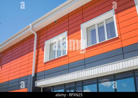 Edificio residenziale di tipo moderno. Architettura moderna. sfondo Immagini Stock