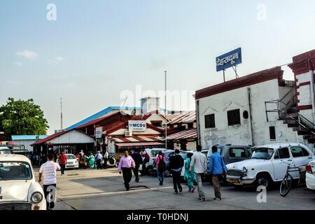 La stazione ferroviaria di Dehradun Uttarakhand India, Asia Immagini Stock