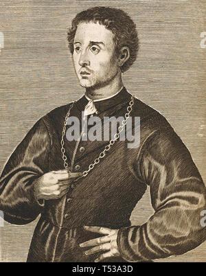 PIETRO Aretino (1492-1556) autore italiano. drammaturgo,Satiro e poeta Immagini Stock