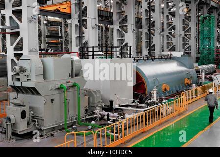 Alimentazione generatore di azienda, India, Asia Immagini Stock