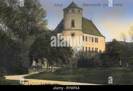 Schloss Bärenstein, Bärenstein (Altenberg), 1907, Landkreis Sächsische Schweiz-Osterzgebirge, Bärenstein, Schloß, Germania Immagini Stock