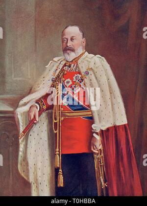 Vecchia foto vintage di Edward VII Immagini Stock