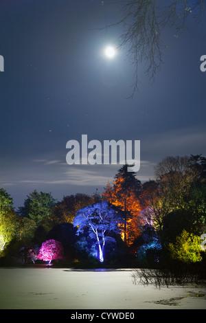 Giardino incantato di Halloween nel parco del Monte Stewart, Irlanda del Nord. Immagini Stock