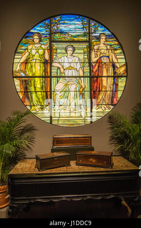 Winter Park Florida Charles Hosmer Morse Museum of American Art Tiffany vetrate museum Immagini Stock