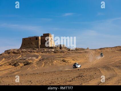 Trono hall si trasformò in una moschea, la Nubia, Old Dongola, Sudan Immagini Stock
