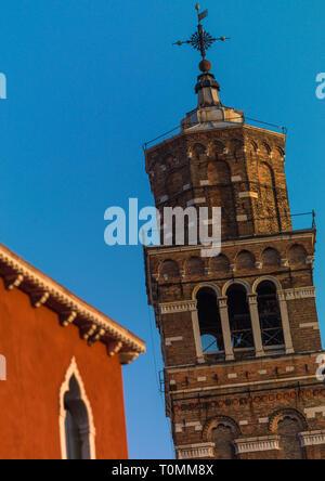 Vecchia chiesa, della Regione del Veneto, Venezia, Italia Immagini Stock
