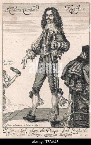 THOMAS URQUHART (1611-1660) aristocratico scozzese e traduttore Immagini Stock