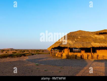 Meroe Tented Camp, Stato settentrionale, Meroe, Sudan Immagini Stock