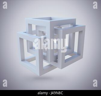 Struttura astratta di sfondo - 3D illustrazione Immagini Stock
