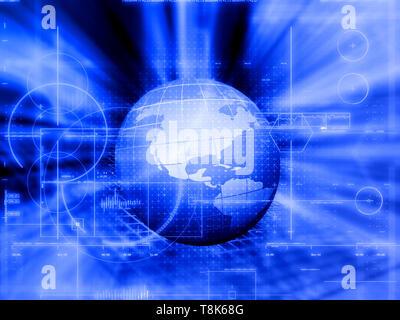 Globo astratto sfondo con tecnologia design Immagini Stock
