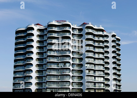Architettura moderna, Sluseholmen, Copenaghen, Danimarca, Europa Immagini Stock