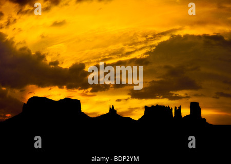 View all'alba, Monument Valley, Utah, Stati Uniti d'America Immagini Stock