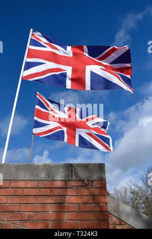 Unione bandiere di Gran Bretagna,UK. Immagini Stock