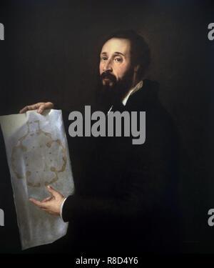 Ritratto di Giulio Romano (1499-1546), ca 1538. Presenti nella collezione di Palazzo Te a Mantova. Immagini Stock
